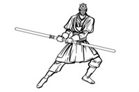 darth maul coloring pages - 700×500