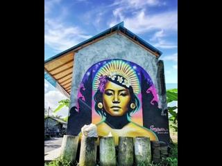 Как вам балийская мусорница?)#индонезия #бали #убуд #мусор #мусорница #дизайн #граффити #куренковы