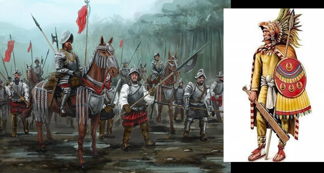 Вооружение испанцев и ацтеков
