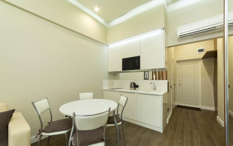 Квартира-студия прямоугольной планировки 30 кв.