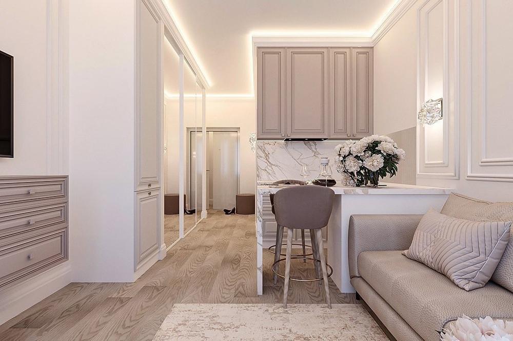 Проект маленькой квартиры-студии 23 кв.