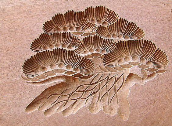 Японские деревянные резные формы Кашигата, изображение №6