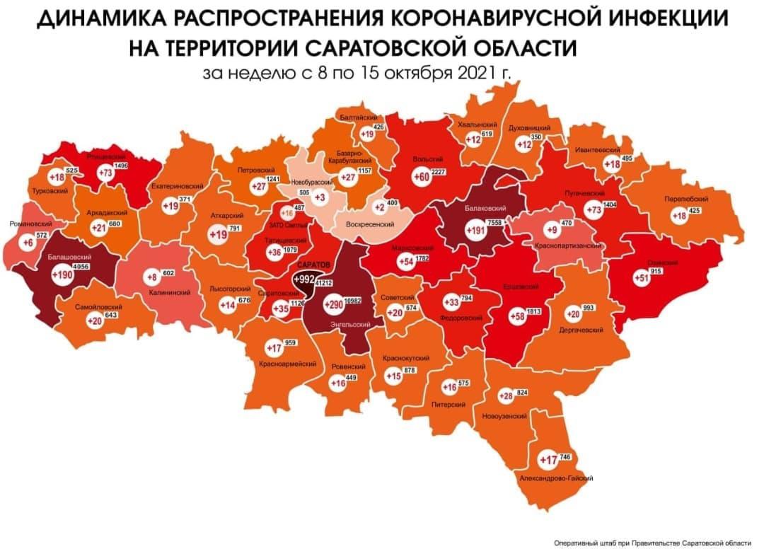 В Петровском районе растёт число заболевших COVID-19: за неделю с 8 по 15 октября в Петровском районе, по официальным данным, 27 жителей заболели коронавирусом (на прошлой неделе - 19 человек