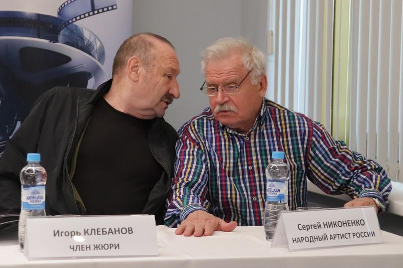 Члены жюри: Народный артист Российской Федерации Игорь Клебанов и Народный артист России Сергей Никоненко