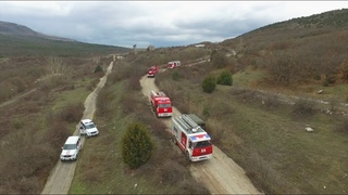 Тренировку по ликвидации крупного лесного пожара провели сотрудники МЧС России по городу Севастополю