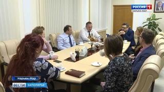 Глава Нарьян-Мара Олег Белак встретился с местными КВНщиками