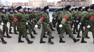 Тренировка парадного расчета казаков Кубанского казачьего войска/Краснодар, 29 января 2020 года