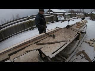 На деревенской пилораме в д. Шишкино