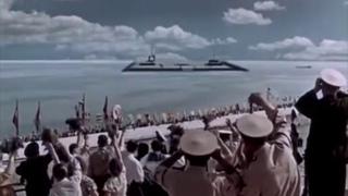 The Sky Calls (1959 Russian Sci Fi Movie ) rocket landing scene