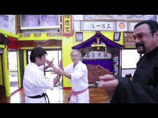 Steven seagal came to Okinawa to visit Tetsuhiro Hokama
