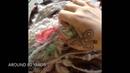 Handspinning weaving waste heavily textured alpaca yarn