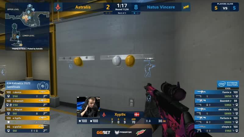 CS GO VOD's Maincast Astralis vs Natus Vincere Map 2 Nuke Best of 3 IEM Katowice 2020 Playoffs
