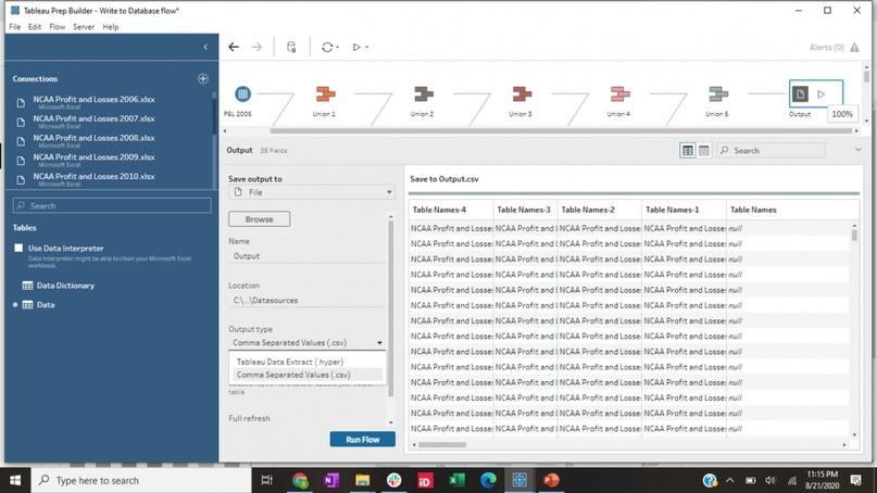 Tableau 2020.3 - Сохранение готовых данных в базу данных в Tableau Prep, изображение №2