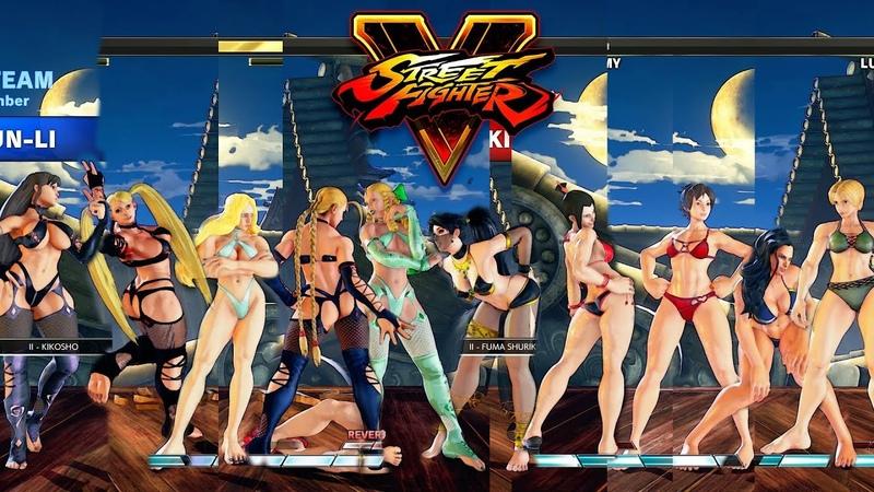 Street Fighter V AE KarinCammyKolinR.MikaChun Li vs IbukiJuriSakuraLauraLucia PC Mod