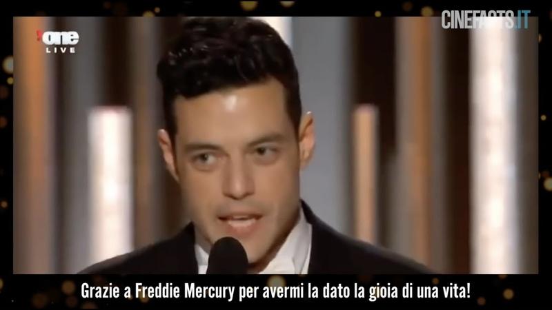Rami Malek's speech at the Golden Globe