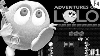 Adventure of lolo Black and white edition (Let's play) №1