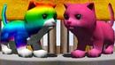 Странный СИМУЛЯТОР КОТЕНКА. Розовый и радужный кот Кида на машине в Cat Simulator Rider Kitty