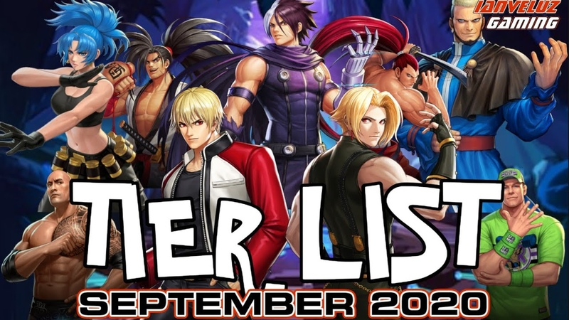 TOP 30 FIGHTERS in KOF All Star | Updated TIER LIST in SEPTEMBER 2020 Global Server