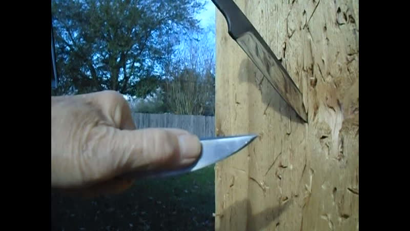 Comparison of a new knife to one that was modified