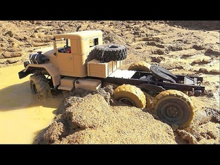 RC SPIN TIRES! COOL AND STRONG HC 6 TRUCK IN MUD! BIG FUN WIT THE TIGER 1
