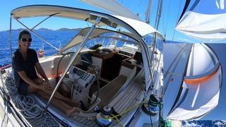 ep67 - Sailing Tortola – Sailing BVI - Parasailor Spinnaker - Hallberg-Rassy 54 Cloudy Bay –Mar 2019