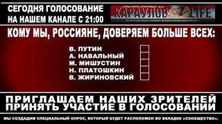 Голосование: кому доверяем - Путину, Навальному, Мишустину, Платошкину, Жириновскому или Мишустину?