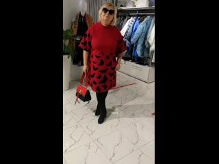 платье бабочки красное