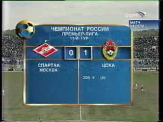 ЧР 2004. Спартак - ЦСКА 11 тур