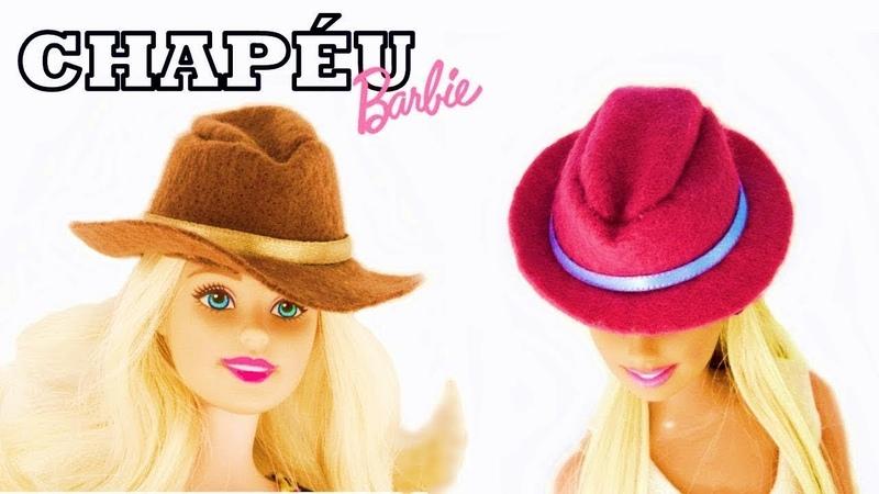 Como Fazer Chapéu para Barbie e outras Bonecas Diy Tutorial Roupas de Bonecas Super Toy Kids