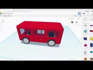 Уроки по 3D моделированию  Делаем автобус в TinkerCAD