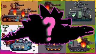 Game bắn xe tăng Quái vật - Tổng hợp trận chiến Godzilla #9 | Dino Tanks | Phim hoạt hình về xe tăng