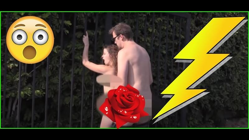 Шок Занимаются сексом на улице Секс на публике