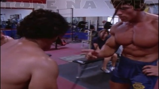 ARNOLD SCHWARZENEGGER TRAINS CHEST WITH ED CORNEY AT GOLD'S GYM RARE FOOTAGE- PUMPING IRON OUTTAKE!!