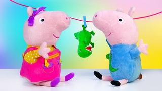 Peppa Wutz auf Deutsch. Spielspaß mit Peppa und Schorsch. Spielzeug Video für Kinder