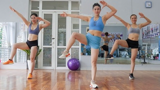 45 Mins AEROBIC DANCE WORKOUT | 3 in 1 (Weight Loss, Lose Belly Fat, Small Waist) | Eva Fitness