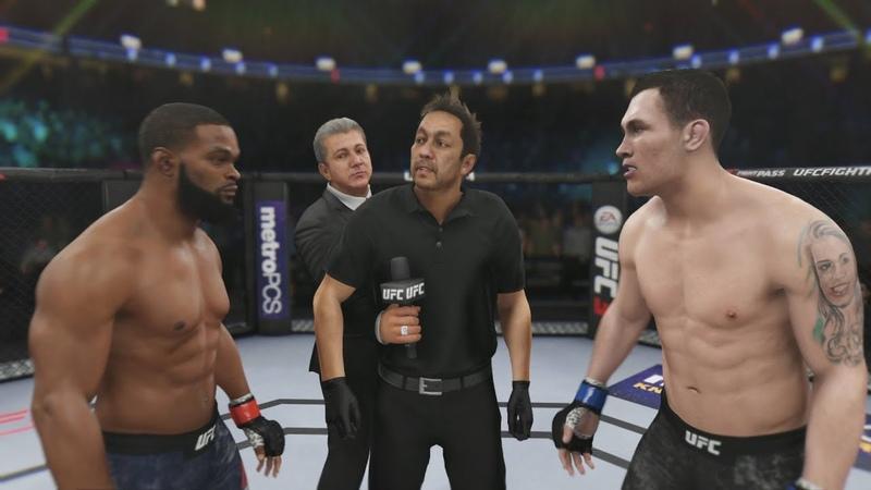 ТАЙРОН ВУДЛИ vs ДАРРЕН ТИЛЛ EA SPORTS UFC 3 CPU vs CPU Woodley vs Till ufc 228