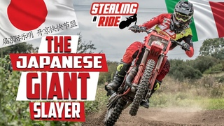 Stealing a Ride on an Ultra Rare Giant Slaying 2 Stroke MX Bike!