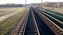 Последний вагон вид из окна поезда