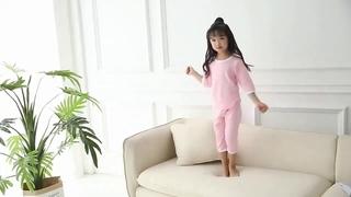 Детские пижамные комплекты, весенне осенние однотонные хлопковые топы и штаны для девочек, 2 шт., домашняя одежда для малышей,