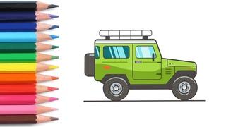Алфавит для детей учим буквы весело мультики раскраска как нарисовать машину азбука простые слова