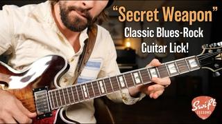 """My """"Secret Weapon"""" Blues Rock Guitar Lick -  Soloing Lesson"""