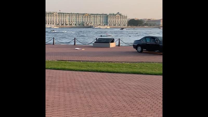 На съемках нового блокбастера о бандитах Санкт Петербурга