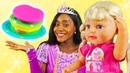 Готовлю игрушкам - шоу на английском языке. Плей До пирог для куклы Беби Бон Сестричка.