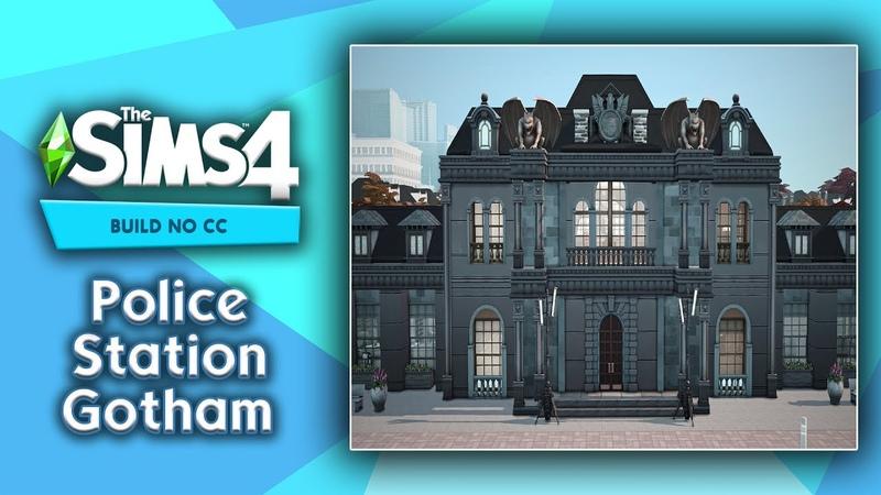Police Station Gotham Sims 4 Build No CC Полицейский участок Готэм Симс 4 строительство