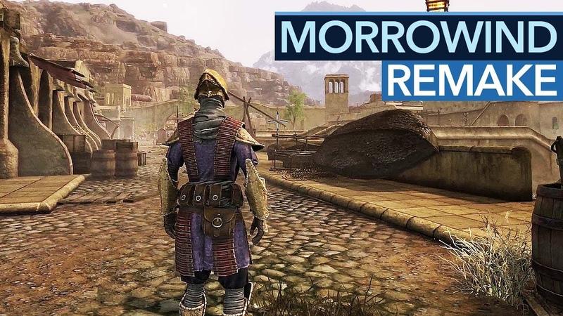So sieht Morrowind mit ganz neuer Grafik aus - Skywind Gameplay