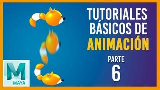 Tutorial básico de animación en Maya ::: Pelota con cola vertical / Tail ball animation